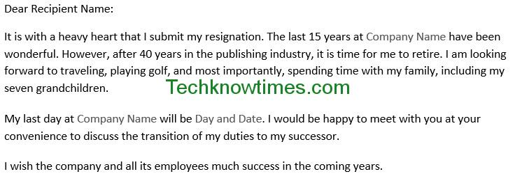 Resignation Letter Template in MS Word - microsoft office resignation letter template
