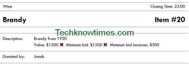 Silent Auction Bid Sheet Template Microsoft Word - sample silent auction bid sheet