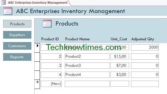 Access Database Templates for Inventory Management and Tracking System