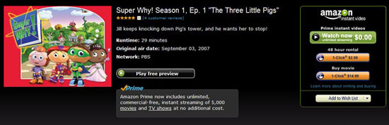 Amazon Prime Instant Videos Streams Free Movies - Techlicious