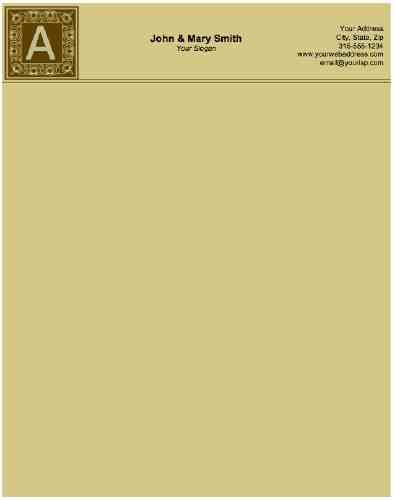 How a Personal Letterhead Should Look Like -