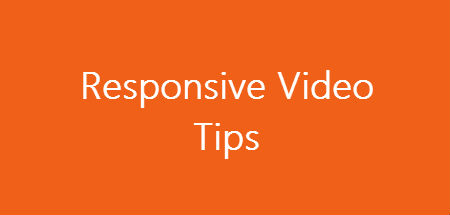 Cover photo for responsive videos