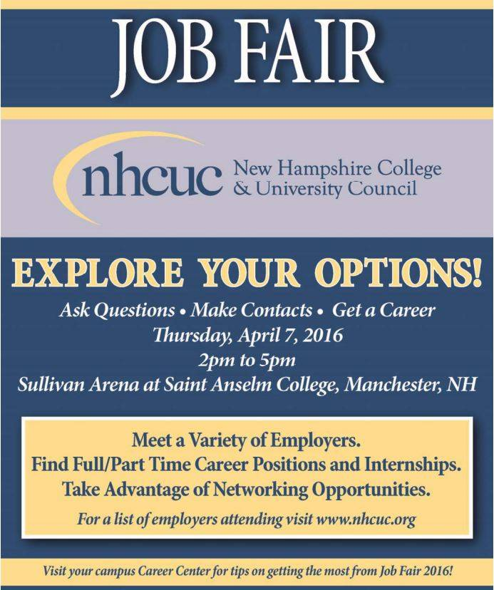 Job Fair - April 7th for the NHCUC - Technical Needs - what to ask at a job fair