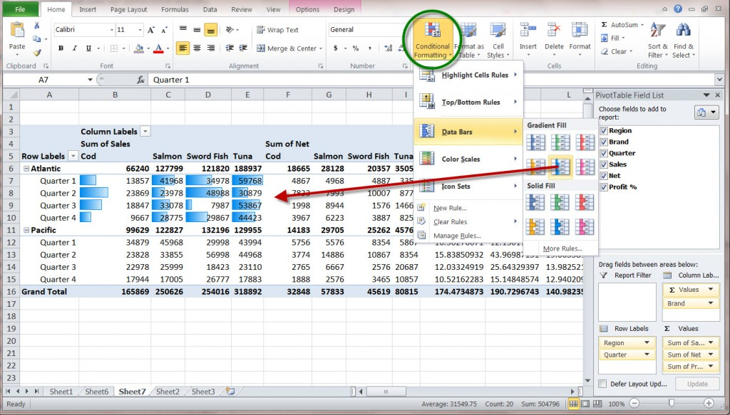 How to Create a MS Excel 2010 Pivot Table \u2013 An Introduction - pivot table in excel