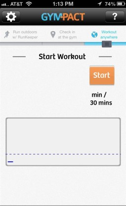 Workout using accelerometer.