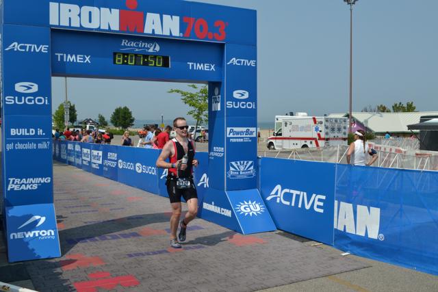 Through the finish line.