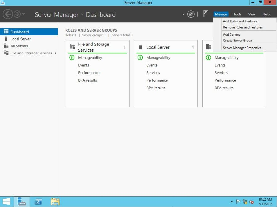 Windows Server Manager