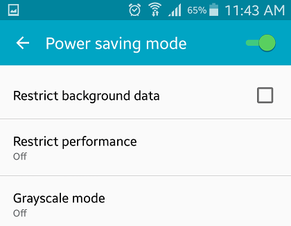 Power Saving Mode