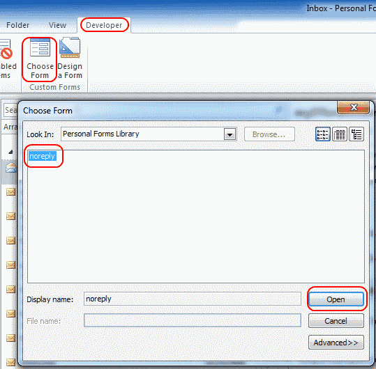 how to create a form email in outlook 2010