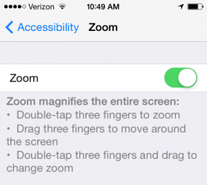 iPhone or iPad: Screen Appears Too Big or Zoomed In Too Much