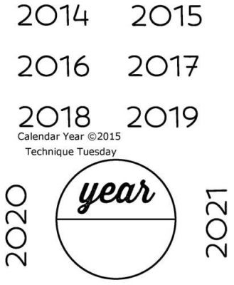 Calendar - Years Clear Stamps Technique Tuesday