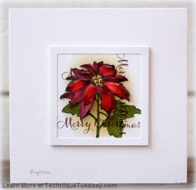 Merry Christmas Poinsettia Card Paper Craft Project Idea