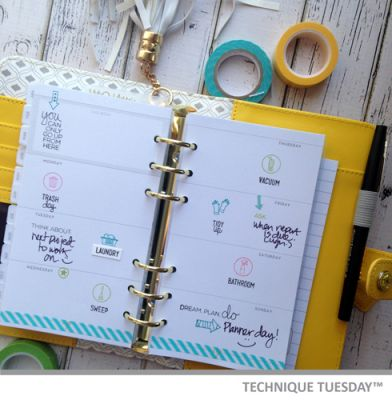 Weekly Planner Pages Paper Craft Project Idea Technique Tuesday