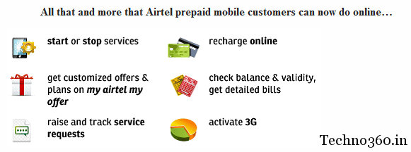 Airtel Launched My Account Services For Prepaid Customers