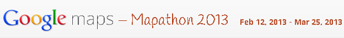Google mapathon 2013