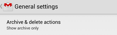 archive & delete action in gmail android app