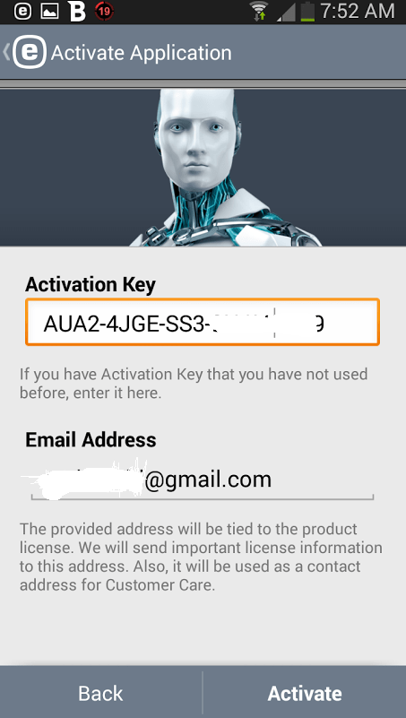 Eset Nod Key >> ESET Mobile Security 2.0 free one year License