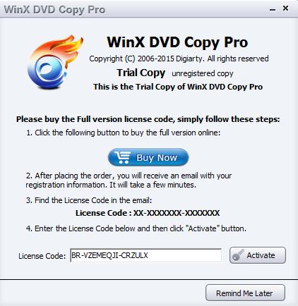 Winx dvd Copy Pro 2 2