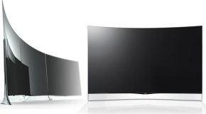 LG lanza el primer televisor de pantalla curva