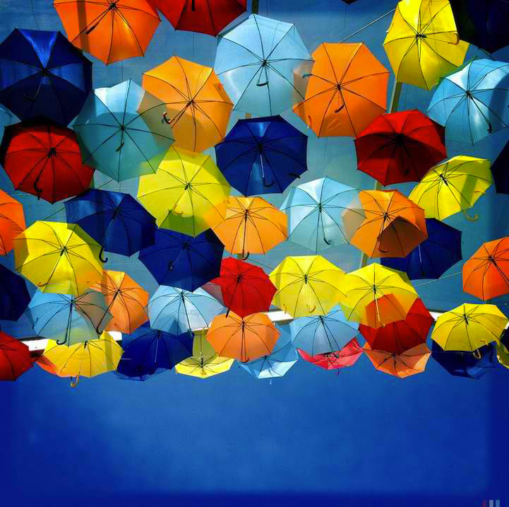 Hd Wallpaper Monsoon Levitation Of Hundreds Of Colorful Umbrellas In Agueda