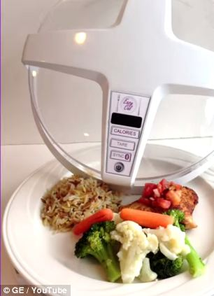 A Futuristic Microwave Machine To Calculate calories In Your Food