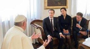 Zuckerberg Papa'yı ziyaret etti