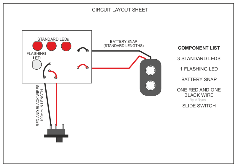 memo board flashing light circuit