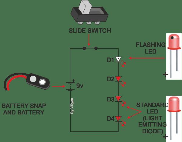 memo board flashing light circuit
