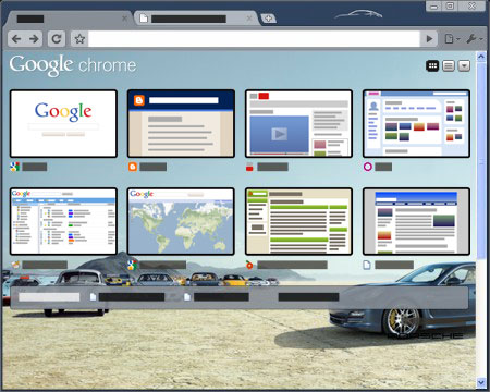 Google Chrome Porsche Theme