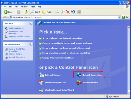 googdnsxpnetworks thumb11 Use Google Public DNS on Windows XP, Windows 7 and Ubuntu 9.10