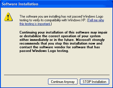 software installation error1 Try Google Chrome OS on Windows XP