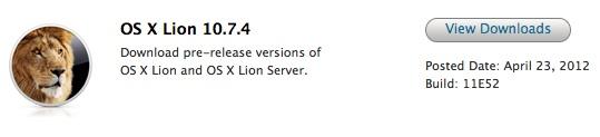 Mac OSX 10.7.4 Lion