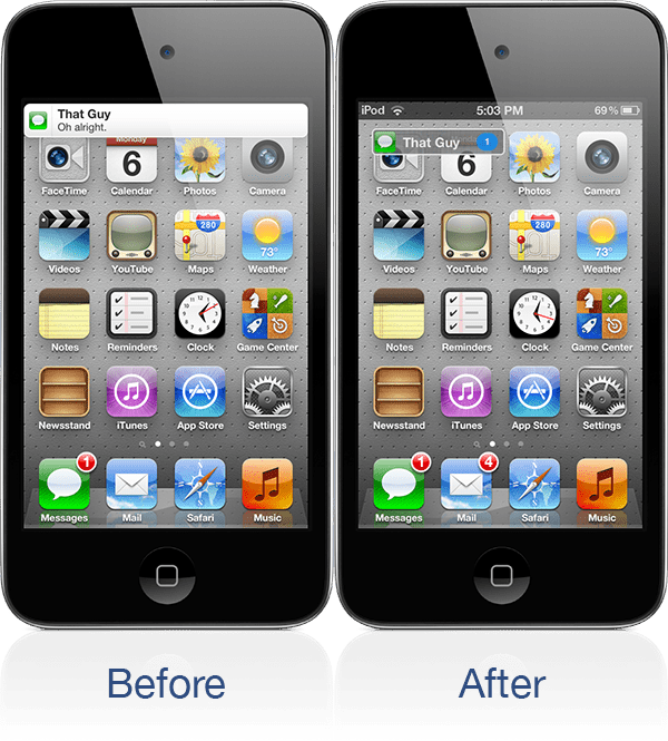 Minibanners for iPhone