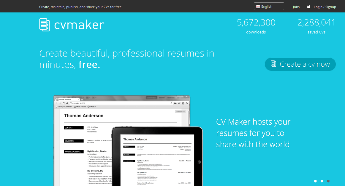 free online resume builder websites