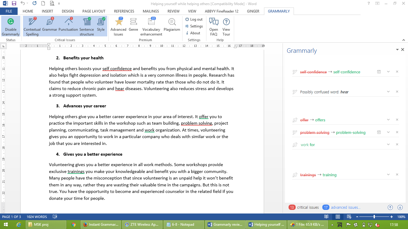 essay grammar check software