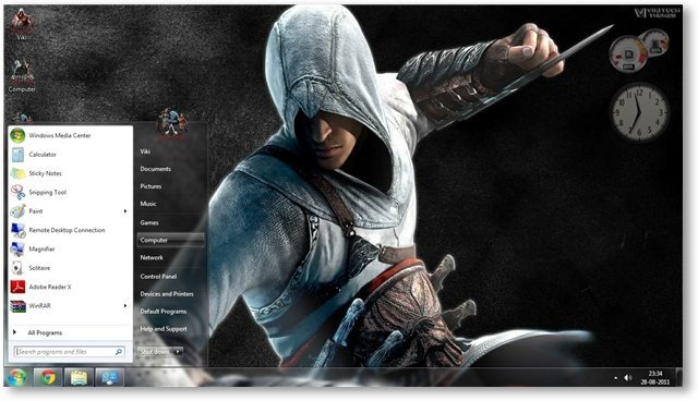 3d Wallpaper For Desktop Icon Assassin S Creed Theme For Windows 7 And Windows 8