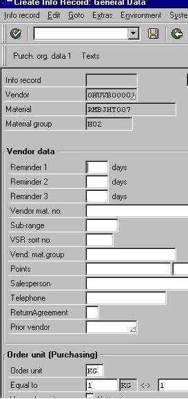 Purchasing Info Record 2