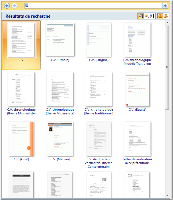 faire cv sur publisher