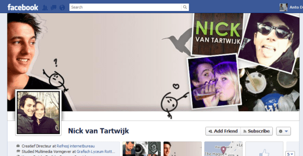 Cool facebook cover design by Nick van Tartwijk