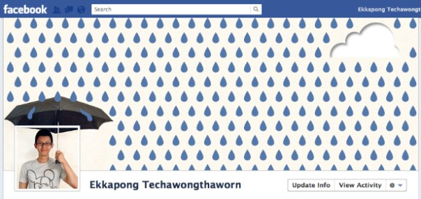 Facebook cover design - Ekkapong Techawongthaworn - raining