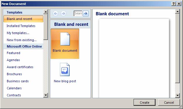 microsoft office header templates