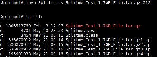 Java split File