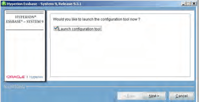 launch the system configuration tool