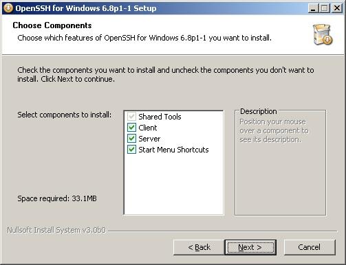 Windows SSH Server Installation