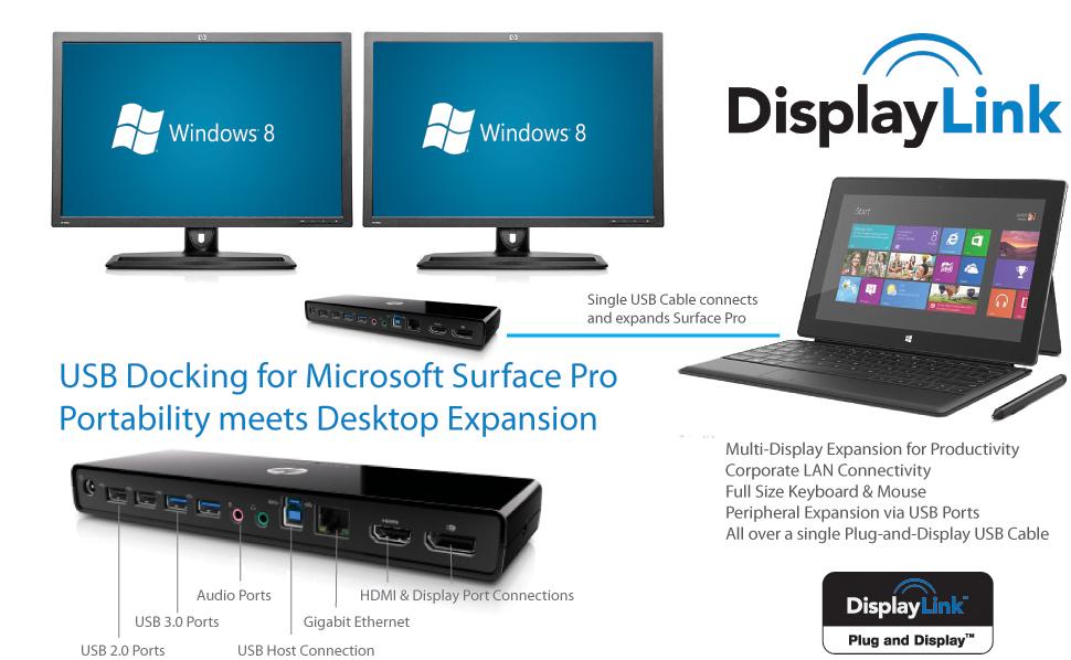 DisplayLink Enables Docking Station Expansion for Microsoft\u0027s