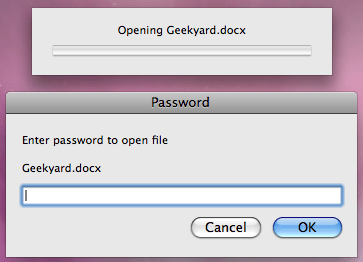 Geekyard Word Document Protection