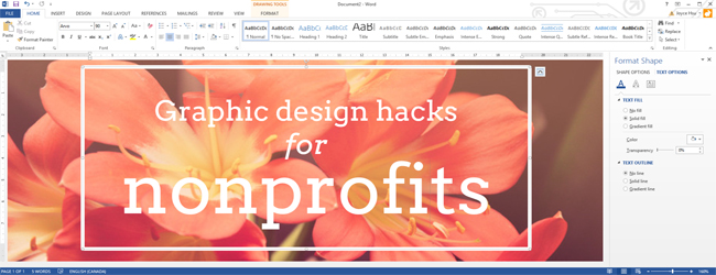 Graphic Design Hacks Using Microsoft Office to Create Images - create graphics