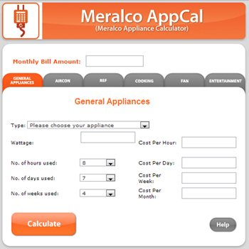 Meralco unveils AppCal Appliance Calculator Techsterr - monthly bill calculator