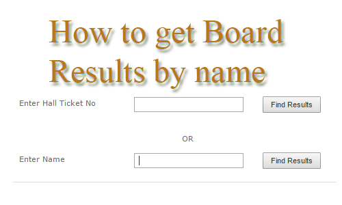 How To Get all India Board Exam Results By Name ?