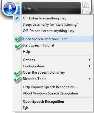 Speech-recognition-options